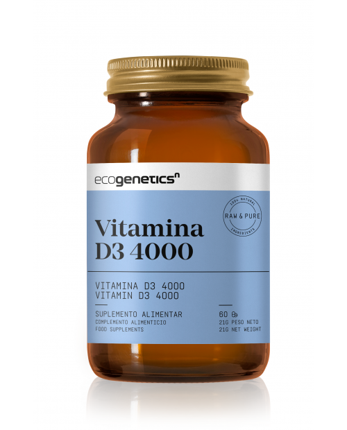 VITAMINA D3 4000iu 60 cápsulas Ecogenetics